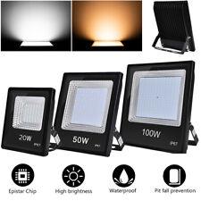 LED Fluter 20W 50W 100W Flutlicht Strahler Außen Scheinwerfer Warmweiß/Kaltweiß