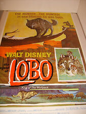 LOBO 1972 RE-RELEASE DISNEY ORIGINAL 27x41 MOVIE POSTER (468)