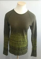 Athleta Workout Long Sleeve Seamless Fitted Top Sz M