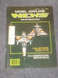 Model Airplane News Magazine August 1981
