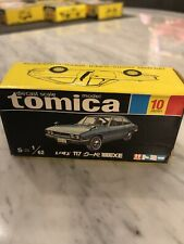 tomica black box die cast scale model s=1/62 Isuzu 117 coupe 1800XE no. 10