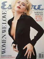 SHARON STONE August 1996 ESQUIRE Magazine NORMAN MAILER / RICHARD BRANSON