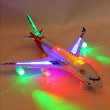 Multicolor Flash Plane Toy Sound Aircraft Music Lighting Children Kids Toys EC