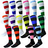 HOOPED FOOTBALL SOCKS SIZE 8 9 10 11 MENS LARGE NEW SOCCER RUGBY SPORT HOCKEY