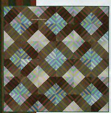Diamond Lattice Quilt Pattern Pieced MJ