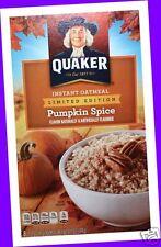 8 POUCHES Quaker Seasonal PUMPKIN SPICE Instant Oatmeal Packets (1 BOX)
