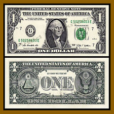 United States of America (USA) 1 Dollar, 2009 P-530 Green Seal (G) Chicago Unc