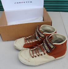 Vans x Taka Hayashi TH Priz Hi LX Brown Leather White Canvas Size 9 Vault RARE
