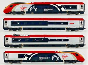 HORNBY 00 GAUGE - VIRGIN TRAINS PENDOLINO 'ALSTOM' 4 CAR EMU - DCC FITTED
