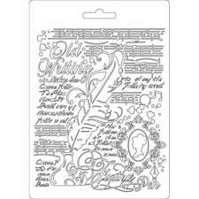 1 Soft mould Textue impresson Relief-Gießform Stamperia DIN A5 K3PTA550 Feather