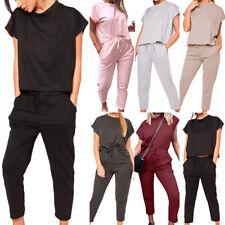 Women Summer Tracksuits Set Short Sleeve Tops Pants Casual Sport Suit Loungewear