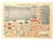 Imagerie D'Epinal No 920 Le Zeppelin, Moyennes Constructions toy paper model