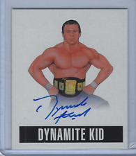 THE DYNAMITE KID 2014 LEAF ORIGINALS WRESTLING ON CARD AUTO
