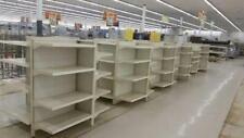 4 Side GONDOLA Metal Shelving LOT Used Store Fixtures Shelves Discount Gift Shop