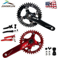 1Set MTB Road Bike Crankset 104BCD 170mm Crank Chainset Narrow Wide Chainring BB