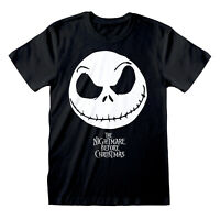 OFFICIAL Nightmare Before Christmas T Shirt Jack Skellington Face S M L XL XXL