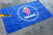 Saab Flag 3x5 ft Banner Automobile Scania GM