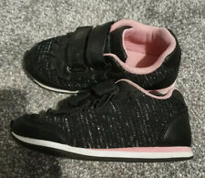 Girls Trainers Black Pink Infant Size 9
