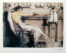 "LOUIS ICART ""MARTINI"" Signed Limited Edition Small Giclee Art with DOGS"