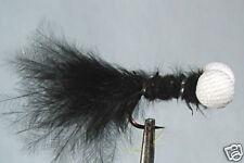 10x Mouche de peche Streamer Booby Noir H10 marabou
