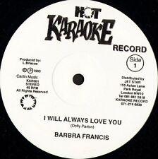 "BARBRA FRANCIS i will always love you KAR001 uk hot karaoke 1993 12"" CS EX/EX"