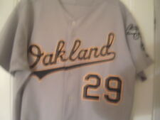2007 DAN JOHNSON OAKLAND A's game used worn road jersey
