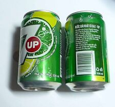 7UP Soda can VIETNAM 330ml  2013 Green VN Pepsi 7 Up Asia Collect
