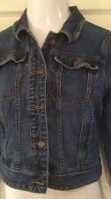 Free People Fitted Demin Indigo Jean Jacket Anthropologie Size M