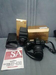 Sigma SA300 SLR Camera With Sigma 28-70mm Lens , Filters & flash sf-430sa boxed