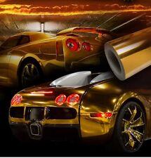 100 x 150cm CHROME Autofolie Glance Air Canals Car Adhesive Autofolie Gold