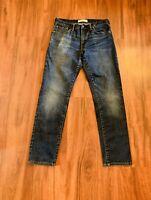 GAP 1969 Men's Straight Fit Distressed Blue Jeans Size 29x30