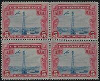 US Stamps - Scott # C11 - Block of 4 - 2 MH (thin) & 2 MNH               (E-347)