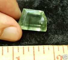 GREEN BERYL CLEAR FACETED CRYSTAL 15.5 CARATS OR 3.1 GRAMS BRAZIL