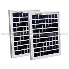 10W 2*5W 12V Poly Solar Panels, 2PCS 5watt Small PV Solar Power Module Car Boat