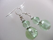 Vintage Art Deco Apple Czech Faceted Crystal & Foiled Glass Not So Long Earrings