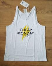 CHEAP MONDAY FOCUS TANK MEN'S T-SHIRT white size M new with tag #54