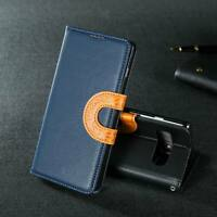 FOR Samsung Galaxy S8 S9 Plus S7 Edge FLIP LEATHER WALLET Phone Book Case Cover