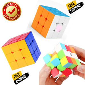 Rubiks Cube Magic Rubic Mind Game Brain Exercise Puzzle 3x3 Stand Speed Box 100%