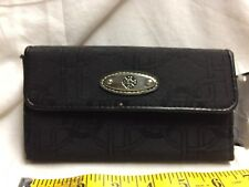 Trevisio Black Wallet with Silver MEdallion
