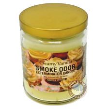 Smoke Odor Exterminator Creamy Vanilla Deodorizing Candle 13-oz jar