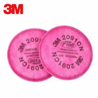 10x Genuine 3M 2091 Filters for 6000 7000 and FF-400 Series Respirators