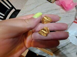 Vintage MID CENTURY MODERN Cufflinks Brushed Gold nugget Chunky cufflinks Dante