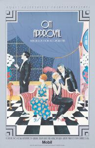 Original Vintage Affiche Sur Approbation Britannique Comédie Pbs Romance TV