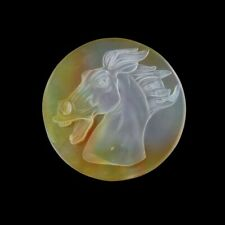Carved Horse MOP Pearl CAB FD000223
