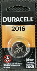 Duracell 2016 CR2016 3V Lithium Coin Cell Battery For Car Key Remote Camera New