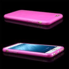 "Apple iphone 6 4.7"" 4.7inch HotPink Transparent Matte Back TPU soft Cases skins"