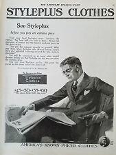 1920 Styleplus Mens Clothes Clothing Suit Fashion Suit Original Ad