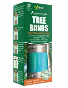 Vitax Fruit Tree Bands Winter Moth Trap Pest Barrier Pk2 5GB1 For 10-12 Trees