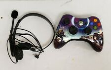 Microsoft Xbox 360 Wireless Gaming Controller black with halo pic