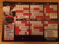 Frederick Keys Baseball - 2015 Magnet Schedule - Baltimore Orioles Affiliate